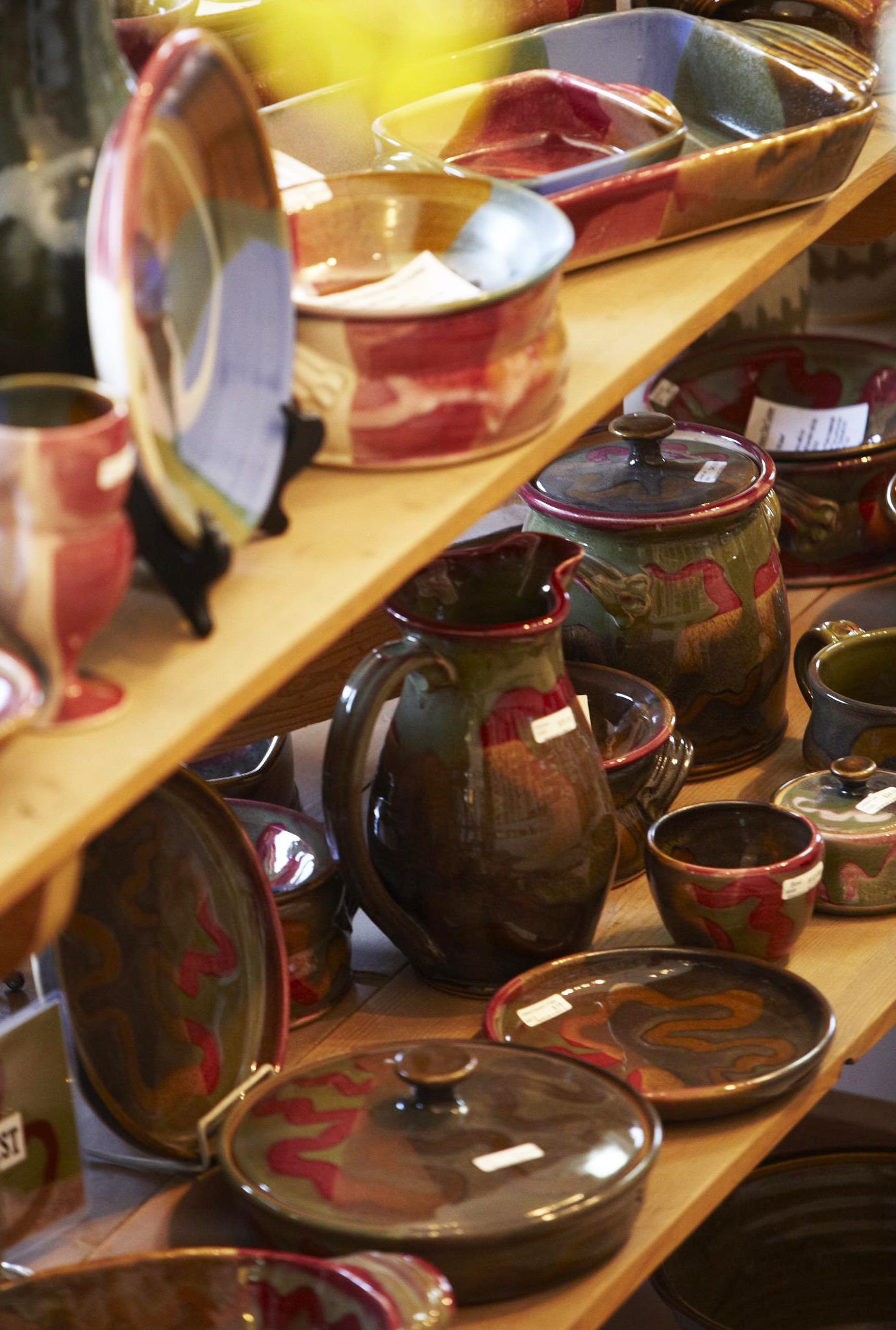 Handmade pieces tempt at Mississippi Mud Pottery.