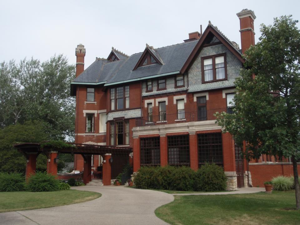 Historic home, the Brucemore, in Cedar Rapids, Iowa.