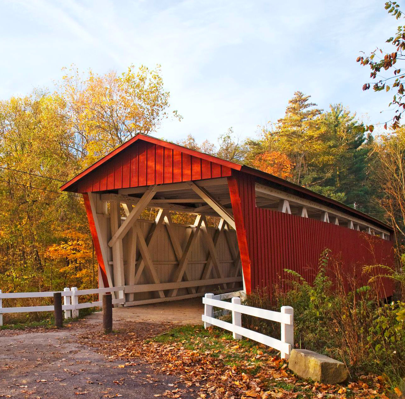Everett Road Covered Bridge is in Cuyahoga Valley National Park.