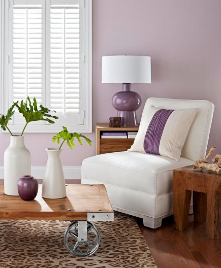 Decorating with purple and pink