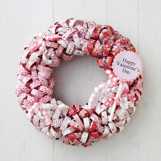 Paper curls wreath