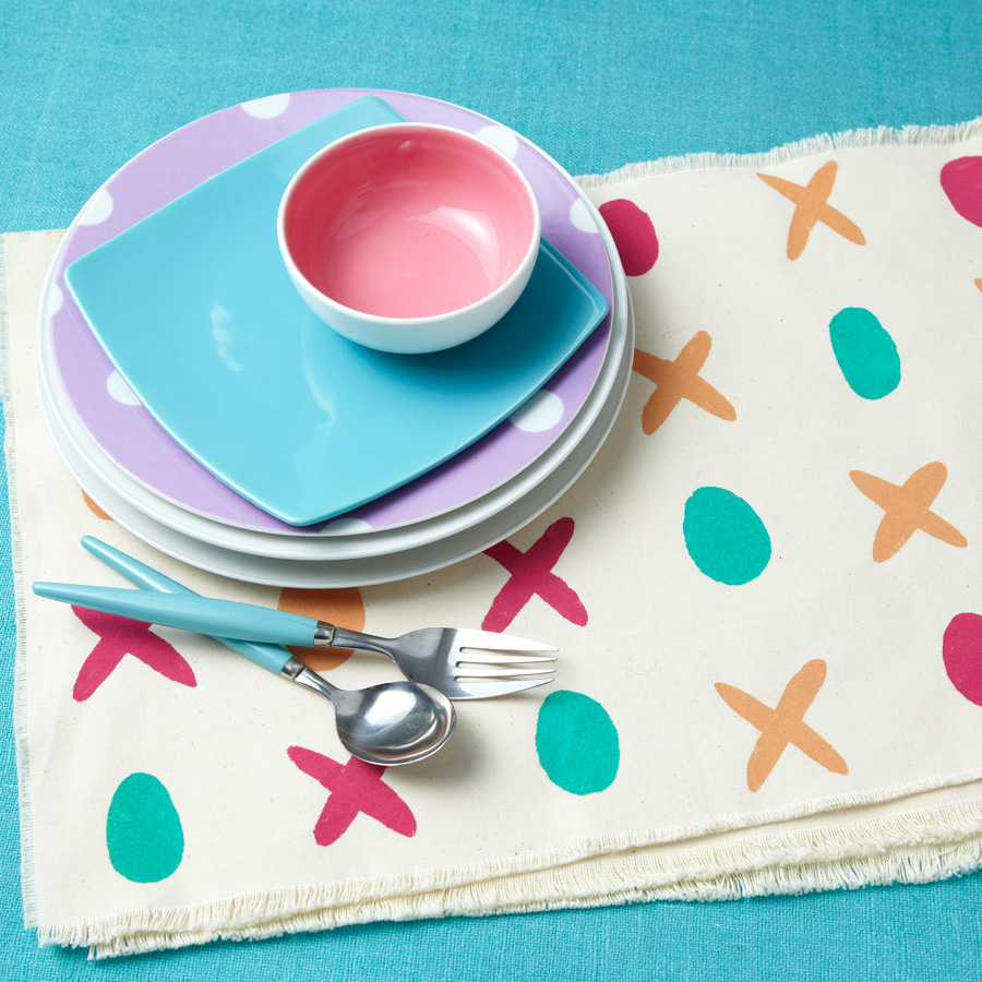 Painted place mats