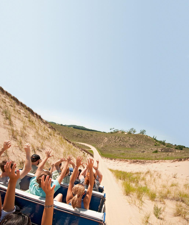 Thrills abound at Saugatuck Dune Rides.