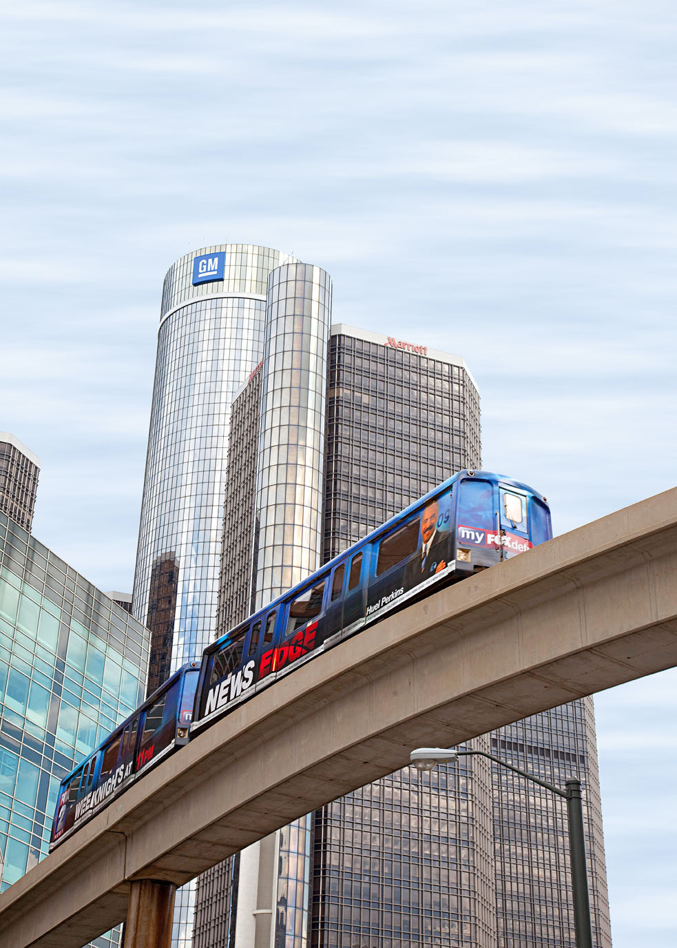 The People Mover in Detroit