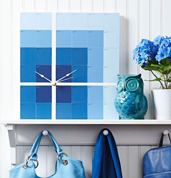 Color block clock.