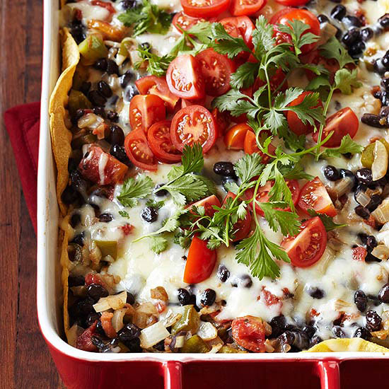 Tortilla-Black Bean Casserole