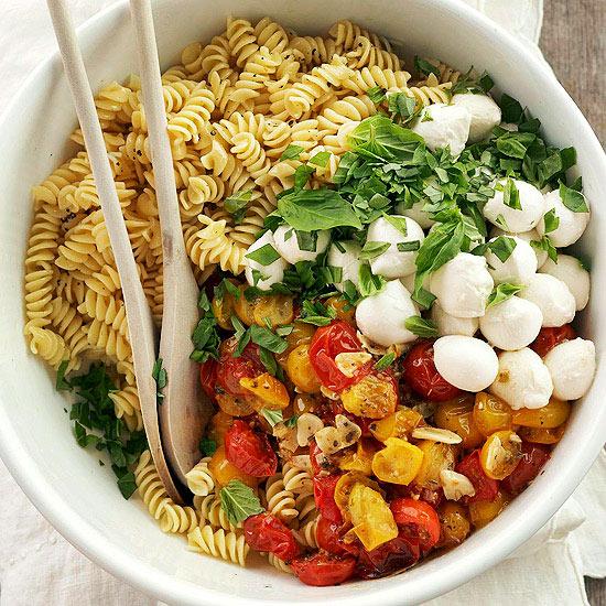 Roasted Tomato Pasta with Mozzarella