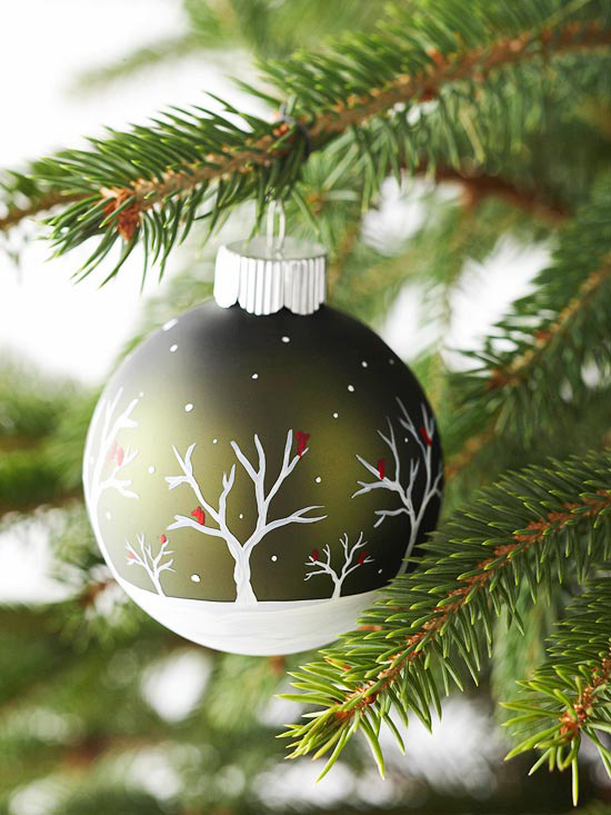 Painted-scene ornament