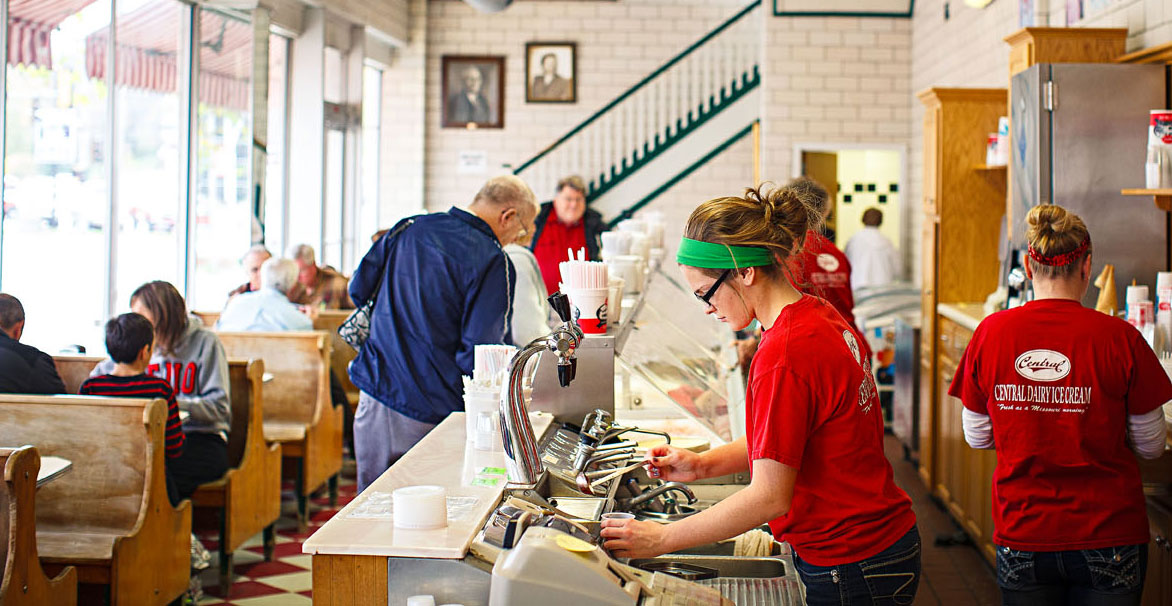 Ice cream lovers can't resist Central Dairy in Jefferson City.