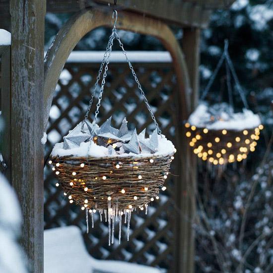 Add sparkle to baskets
