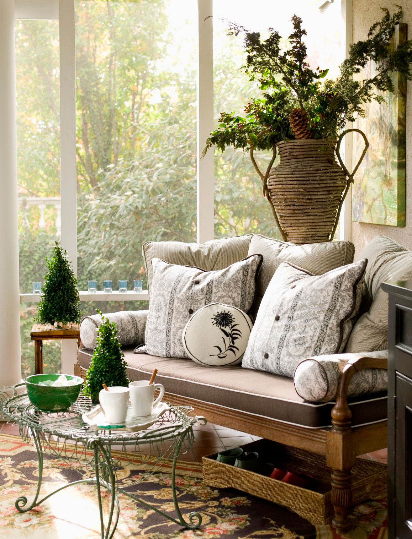 Give warmth to a porch