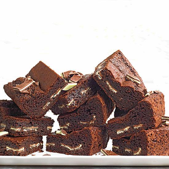 Peppermint Surprise Brownies