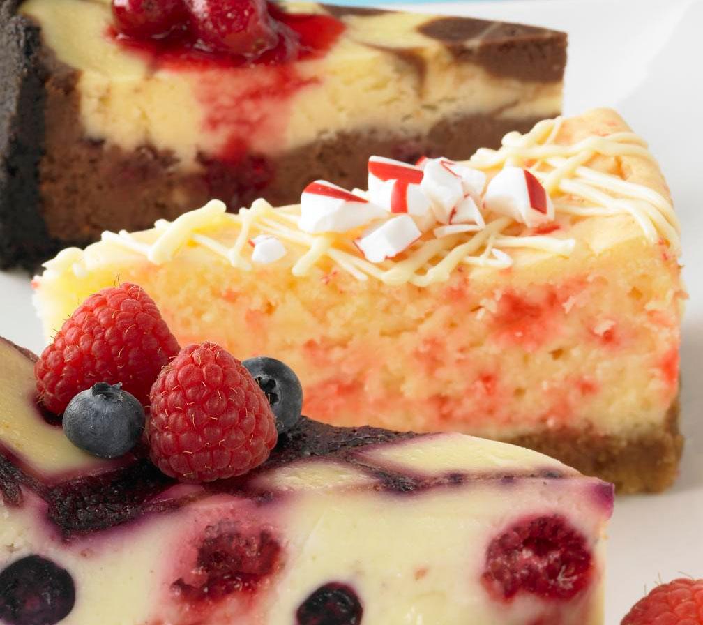 White Chocolate-Candy Cane Cheesecake