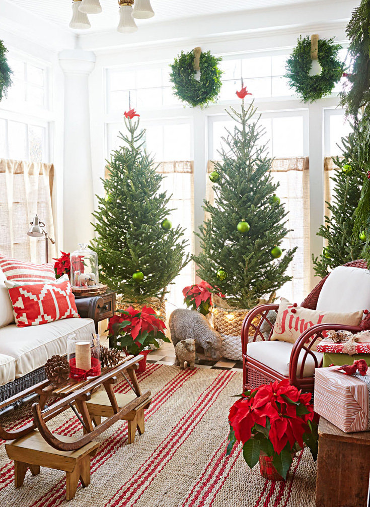 Trio of trees holiday decorating