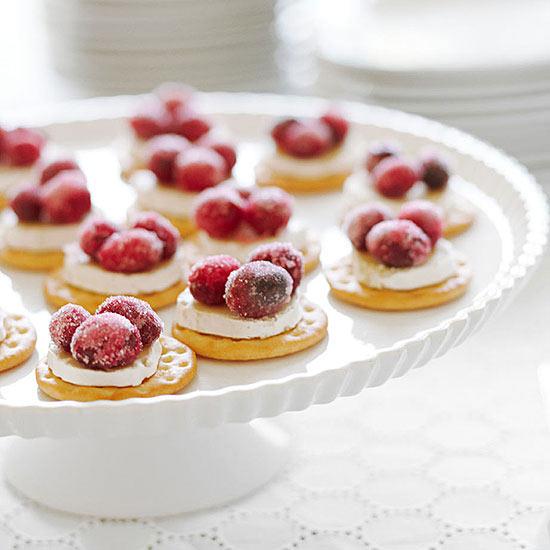 Sparkling Cranberry Brie Bites