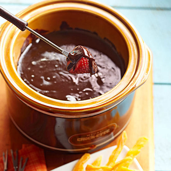 Spiked Chocolate Fondue