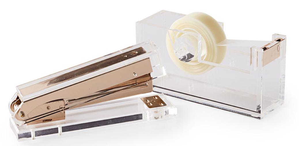Russell and Hazel tape dispenser and stapler