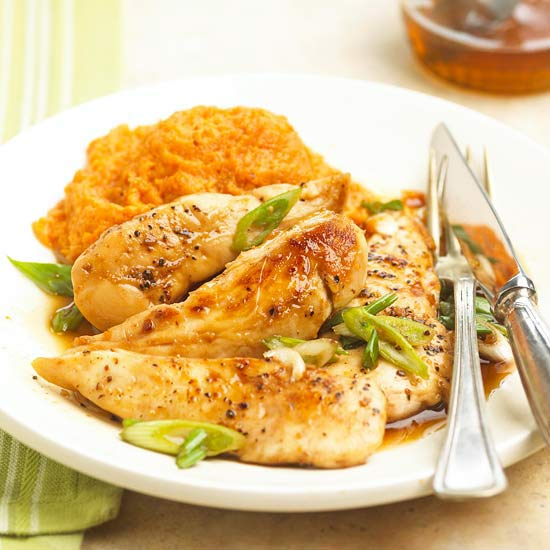 Maple-Glazed Chicken with Sweet Potatoes