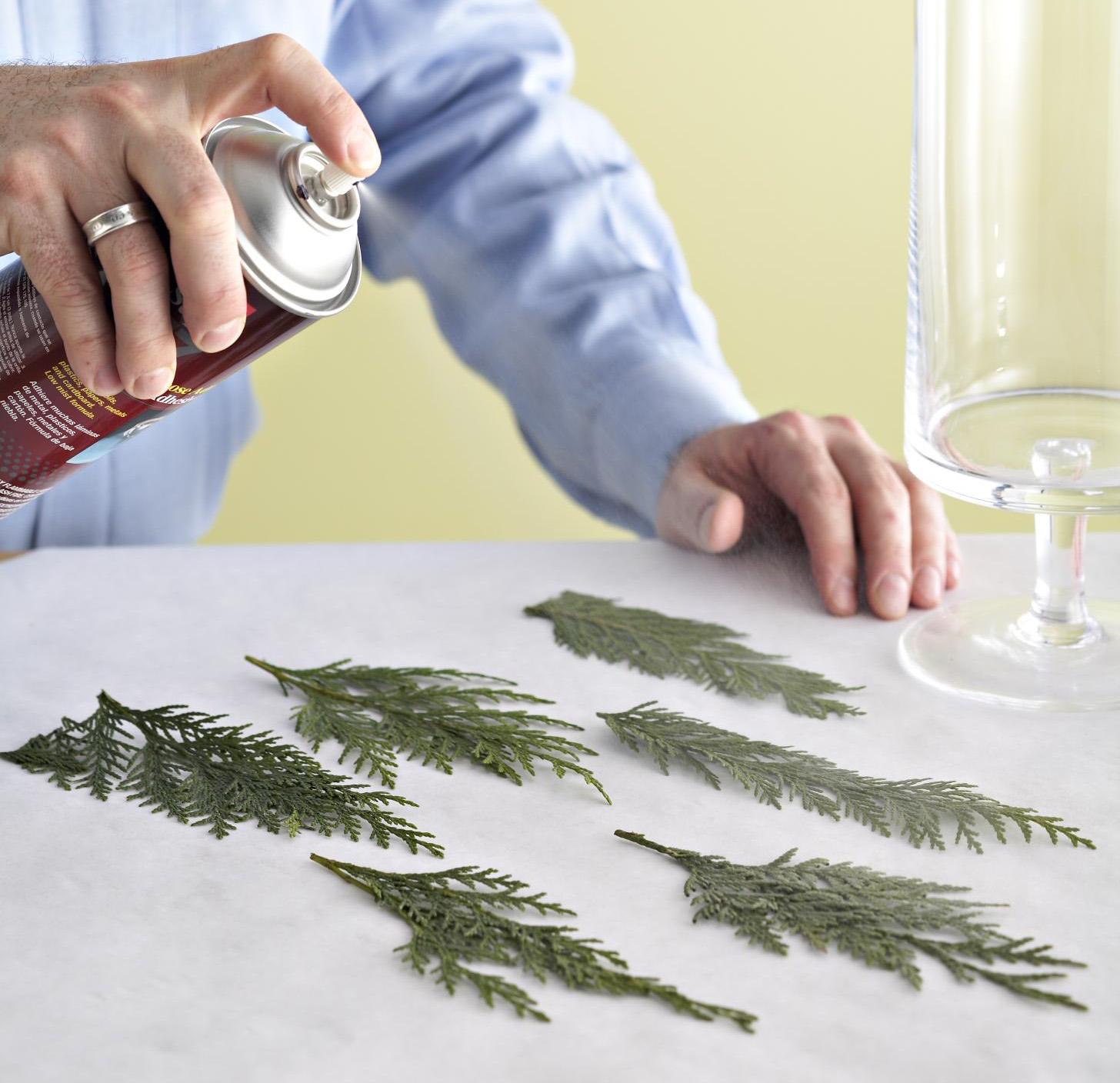 Step 1: Prep glass and greenery
