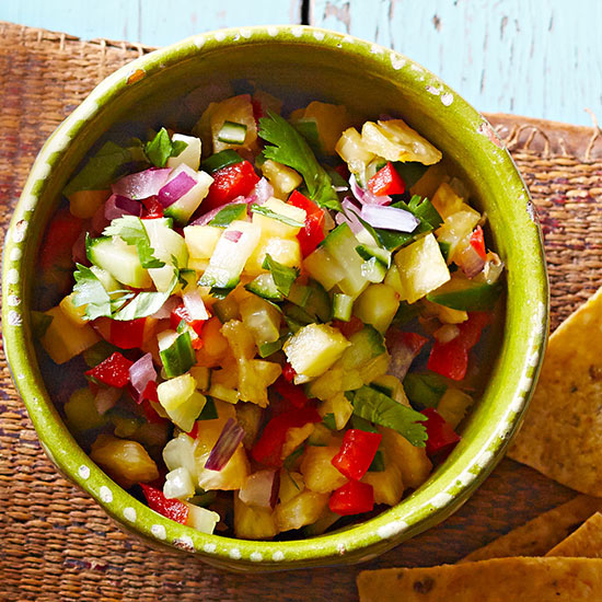 Pineapple-Cucumber Salsa Pico de Gallo
