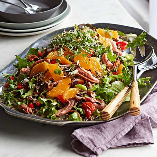 Smoked Turkey and Citrus Wild Rice Salad