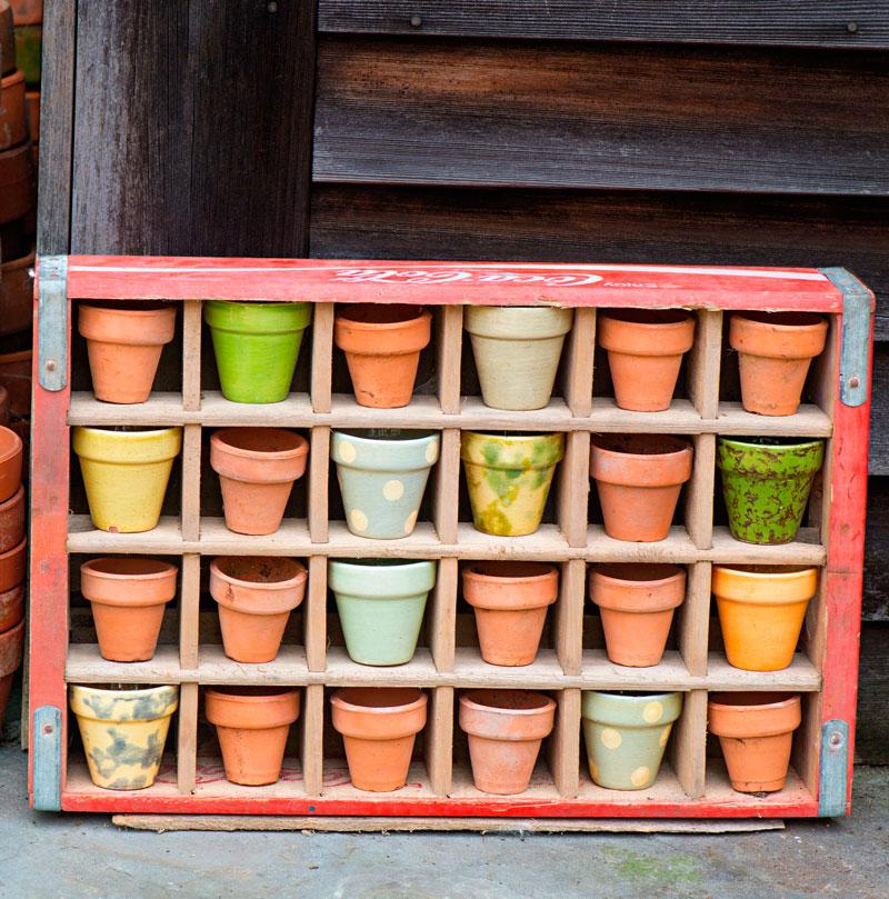 Pots in a box