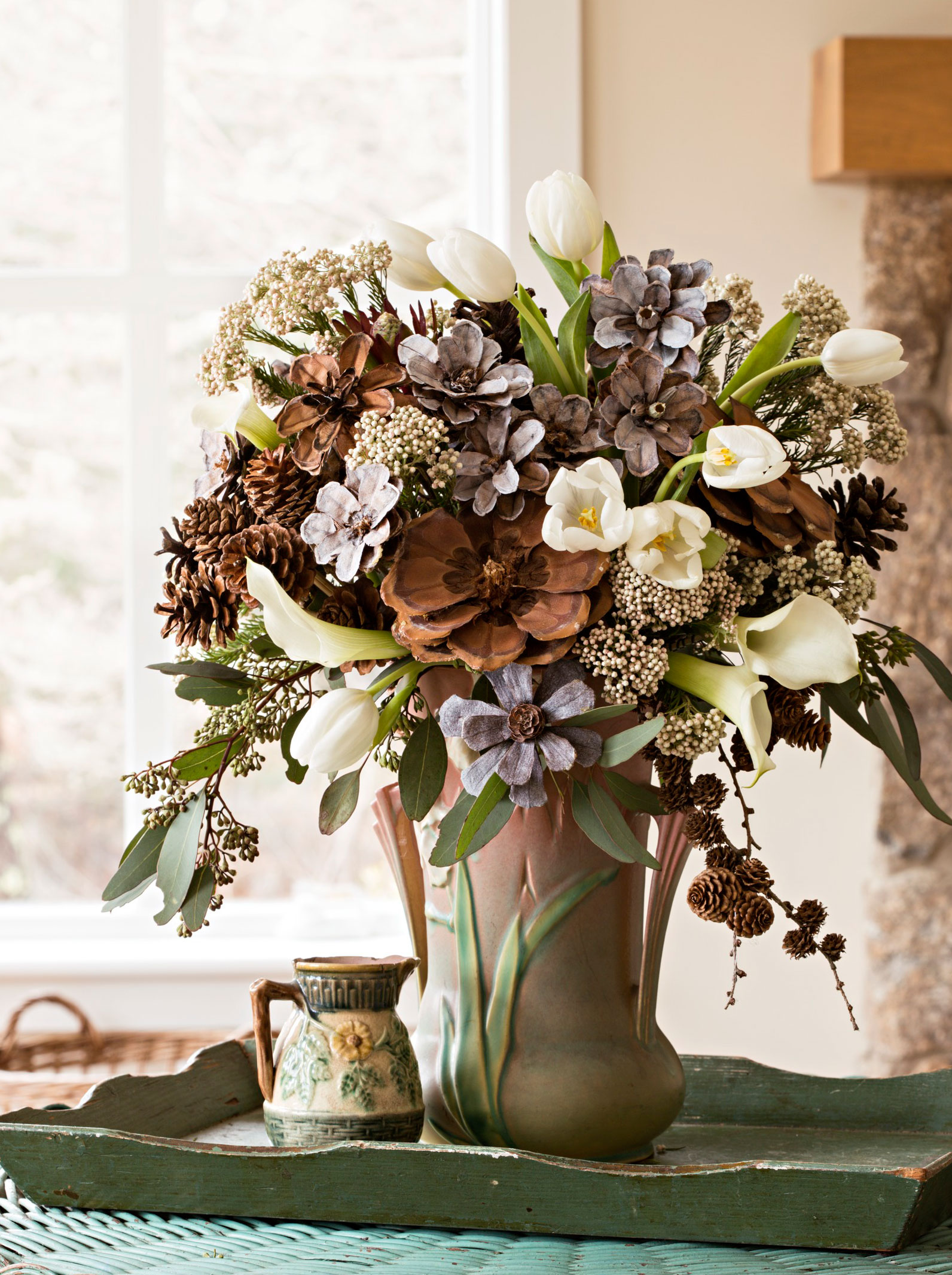 Pinecone arrangement