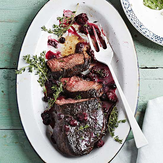 Steak with Berry Sauce
