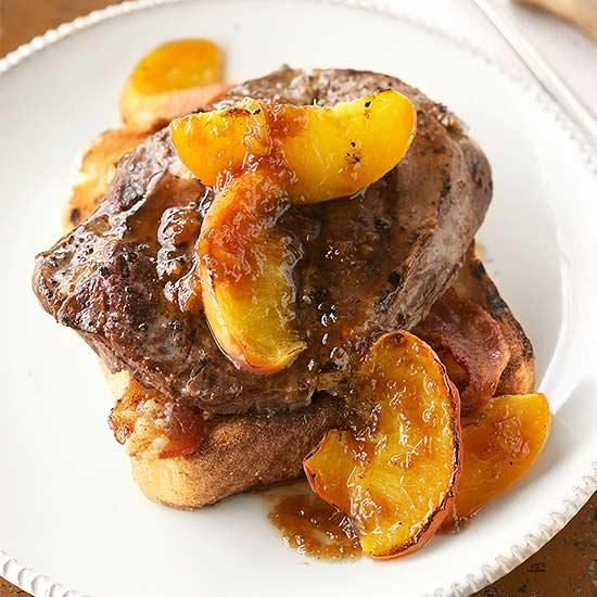 Sizzling Steak with Peach Steak Sauce