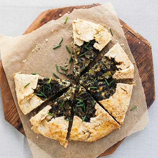 Swiss Chard Crostata with Fennel Seed Crust