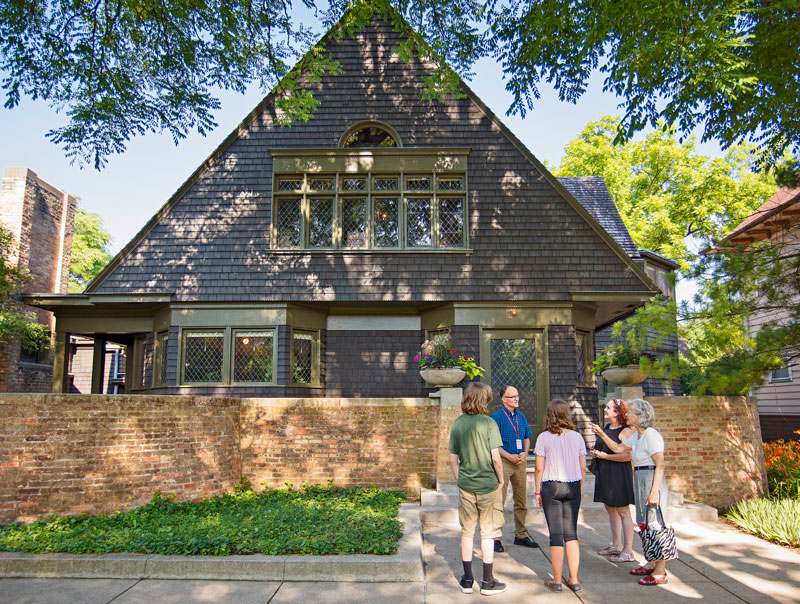 Frank Lloyd Wright's House and Studio. Photo: Bob Stefko