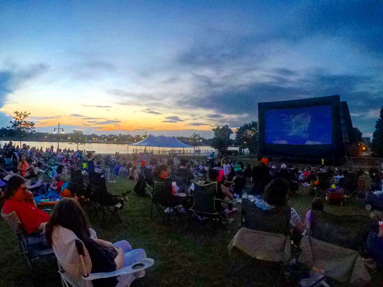 Tuesday night movies at the park