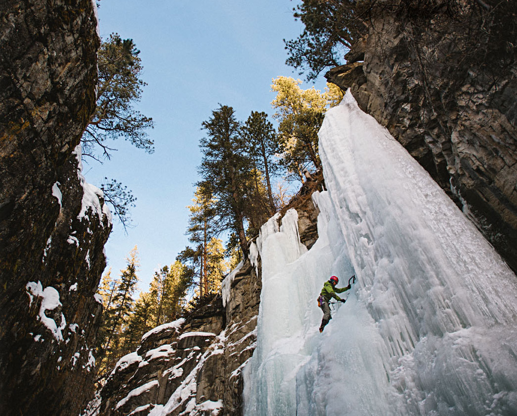 Ice climbing in Spearfish Canyon