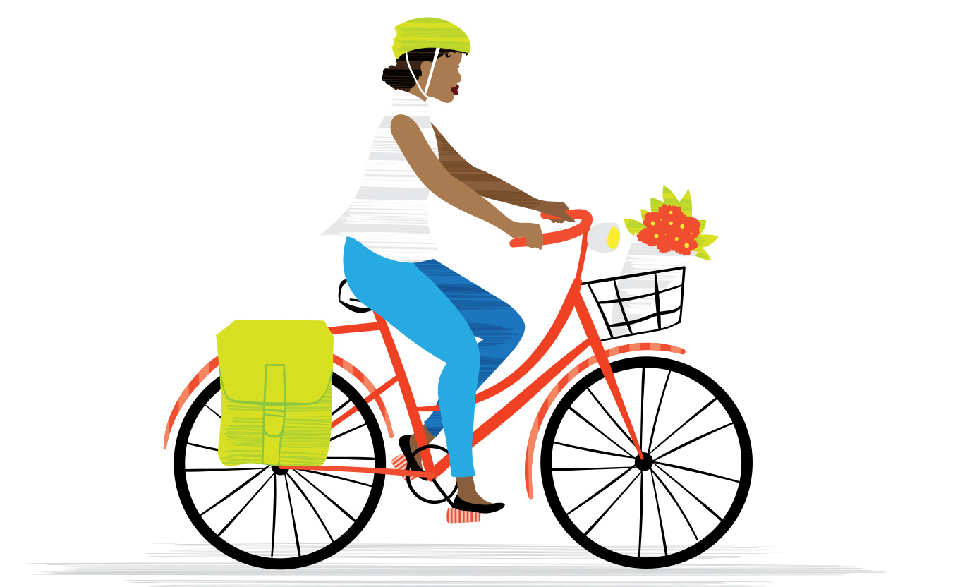 Bicycling illustration