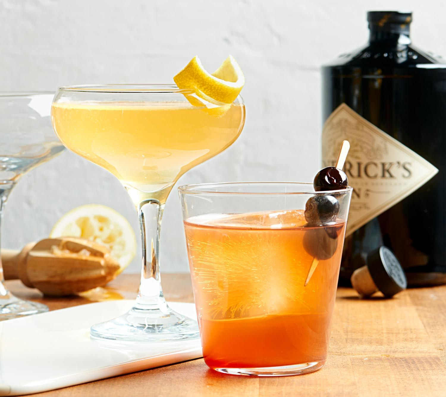 French 85 and The Gold Fashioned