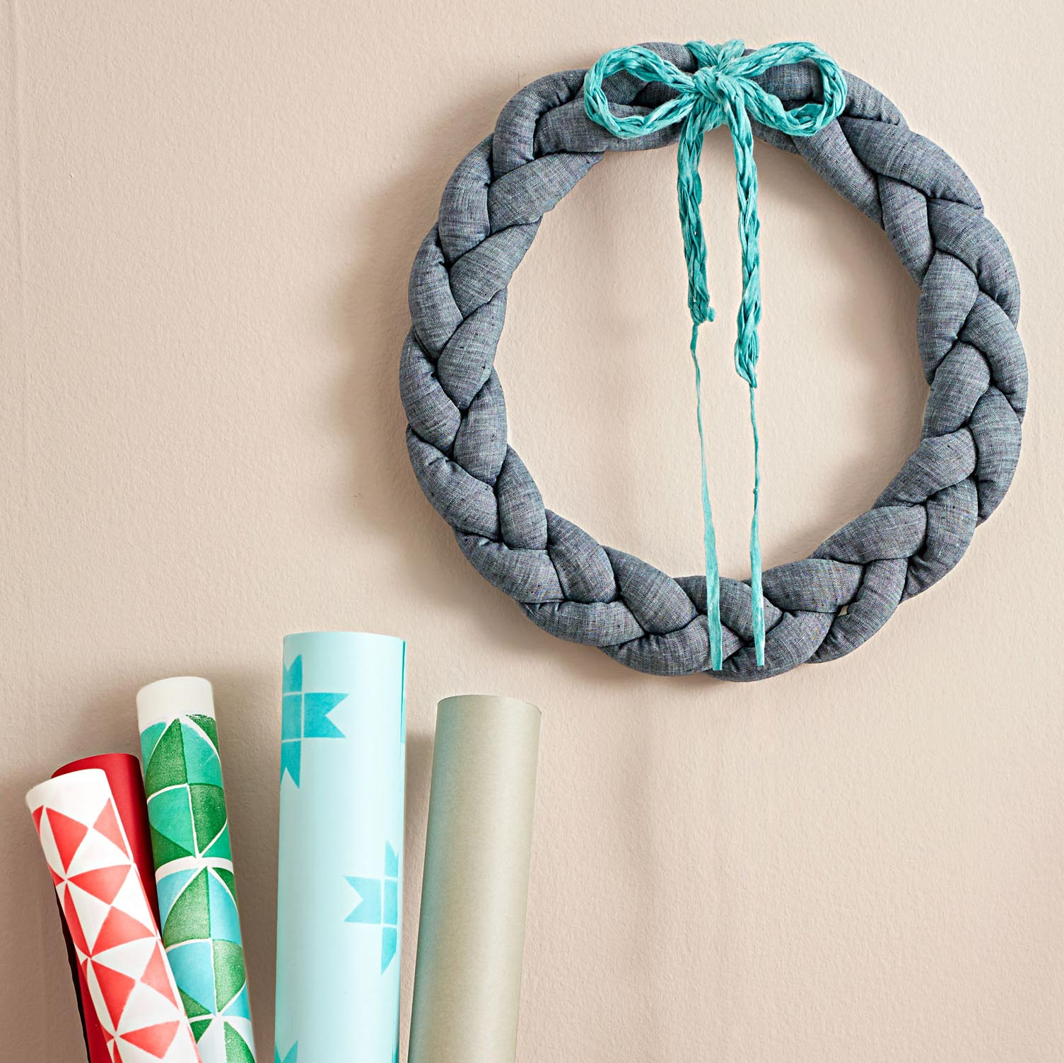 Braided wreath