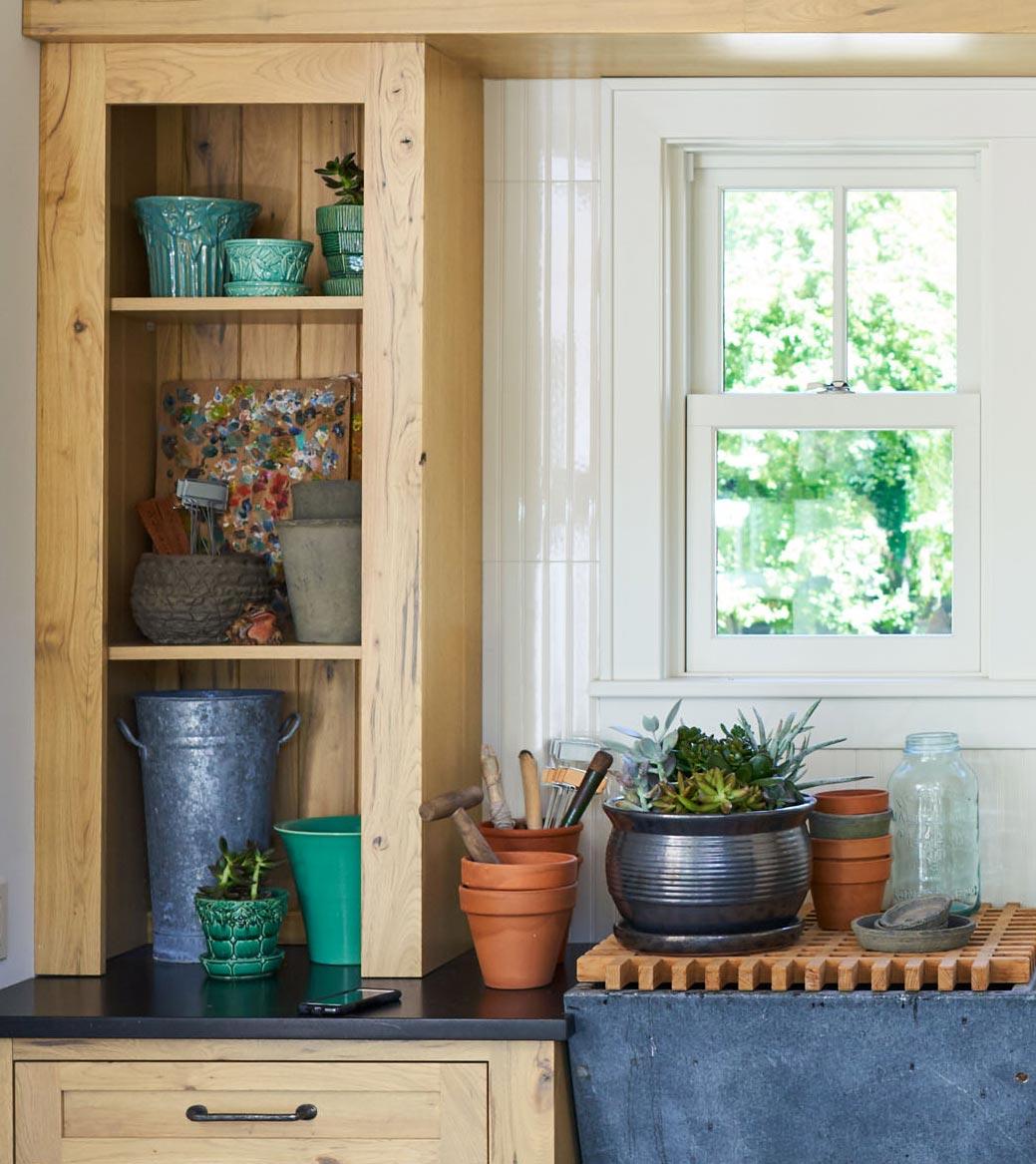 Potting shed shelves