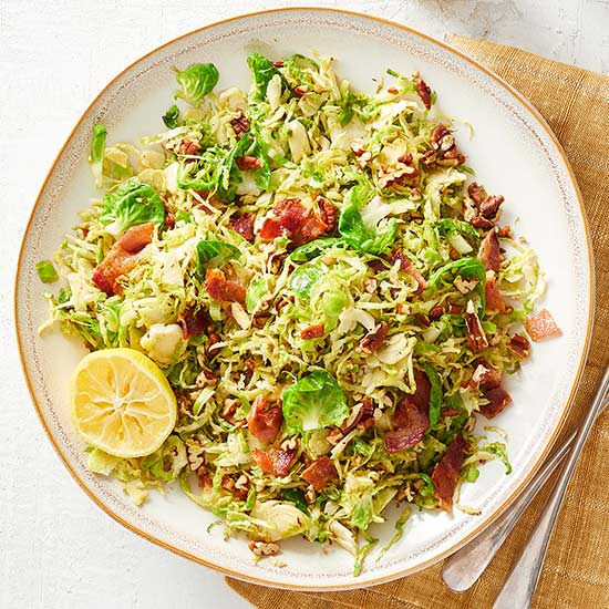 Brussels Sprouts with Pecans and Bacon