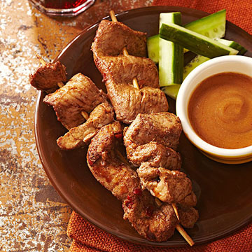 Chinese Five Spice Marinated Pork Satay