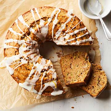 Zucchini Olive Oil Cake with Lemon Drizzle