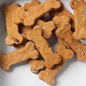 Pumpkin Bacon Dog Biscuits