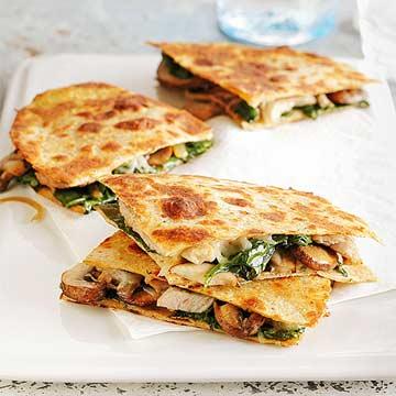 Pork and Veggie Quesadillas