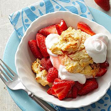 Strawberry-Walnut Shortcakes