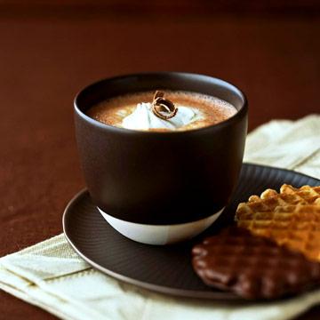 Vanilla Bean Infused Hot Chocolate