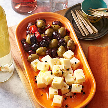 Marinated Cheese Cubes