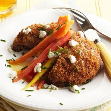 Crisp Portobello Mushroom and Spring Carrot Salad