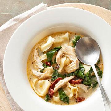 Tortellini Florentine Soup