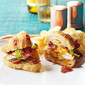 Chicken Caesar Egg Sandwich