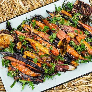 Carrots with Chicories and Brown Butter Vinaigrette