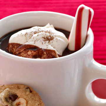Christmas Candy-Cane Hot Cocoa
